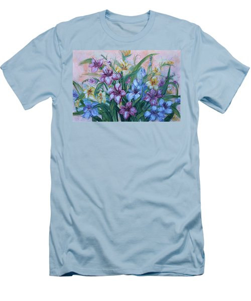 Gladiolus Men's T-Shirt (Slim Fit) by Natalie Holland