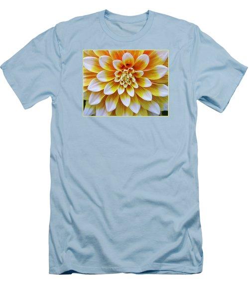 Glowing Dahlia Men's T-Shirt (Slim Fit) by Dora Sofia Caputo Photographic Art and Design
