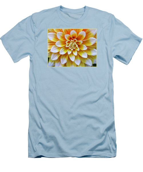Glowing Dahlia Men's T-Shirt (Athletic Fit)