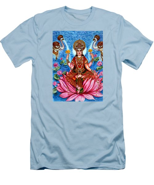Men's T-Shirt (Slim Fit) featuring the painting Goddess Lakshmi by Harsh Malik