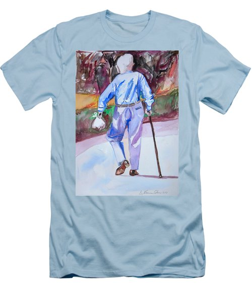 Going Home Men's T-Shirt (Slim Fit) by Esther Newman-Cohen