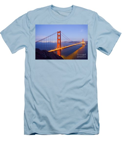 Golden Gate Bridge At Dusk Men's T-Shirt (Athletic Fit)