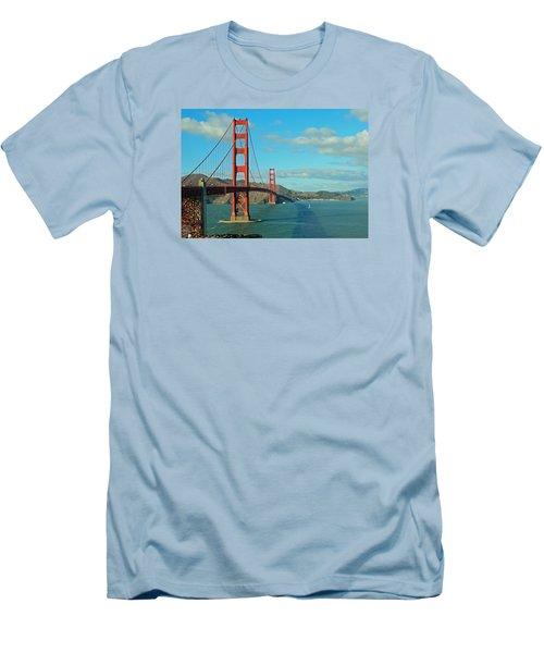 Golden Gate Bridge Men's T-Shirt (Slim Fit) by Emmy Marie Vickers