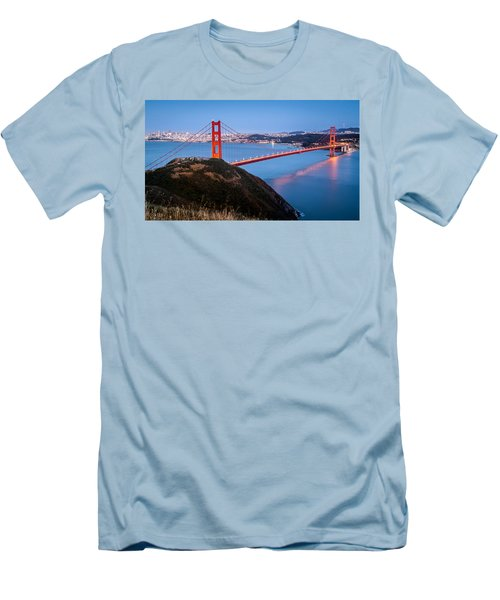Golden Gate Bridge Men's T-Shirt (Slim Fit) by Mihai Andritoiu