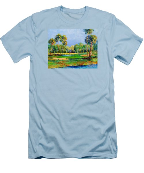 Golf In The Tropics Men's T-Shirt (Slim Fit) by Lou Ann Bagnall