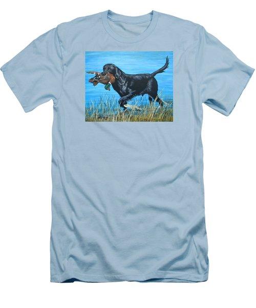 Good Dog Men's T-Shirt (Slim Fit) by Jeanette Jarmon