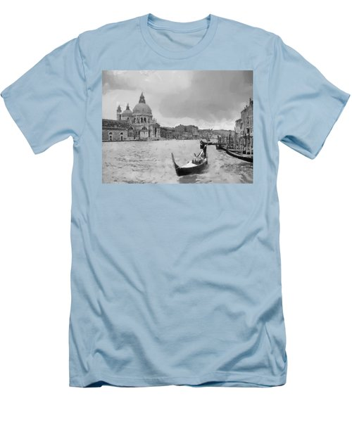 Men's T-Shirt (Slim Fit) featuring the painting Grand Canal Venice Italy by Georgi Dimitrov