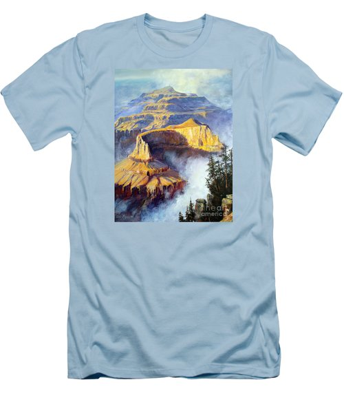 Grand Canyon View Men's T-Shirt (Slim Fit) by Lee Piper