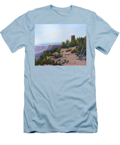 Grand Canyon Watchtower Men's T-Shirt (Athletic Fit)