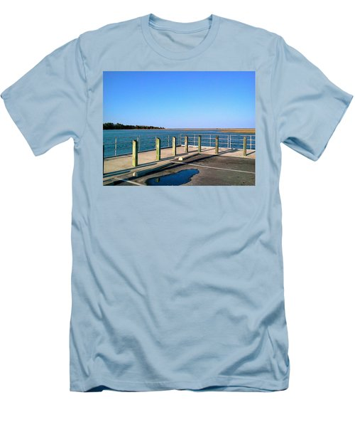 Great Day For Fishing In The Marsh Men's T-Shirt (Slim Fit) by Amazing Photographs AKA Christian Wilson