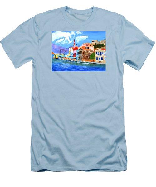 Greek Coast Men's T-Shirt (Slim Fit) by Magdalena Frohnsdorff