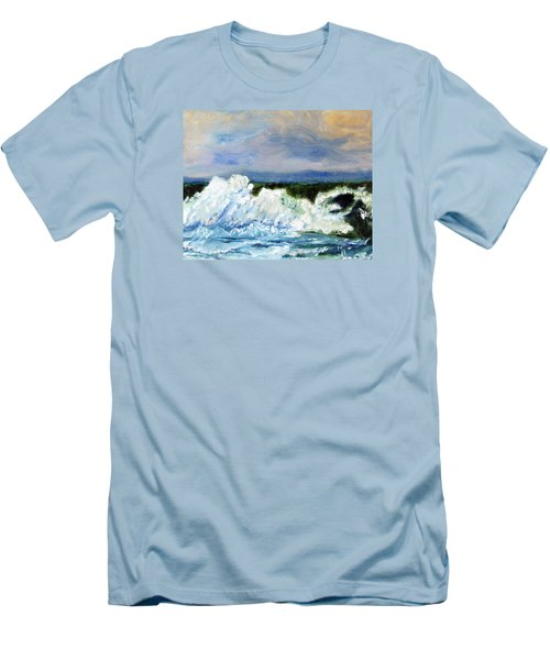 Men's T-Shirt (Slim Fit) featuring the painting Green-eyed Monster by Michael Helfen