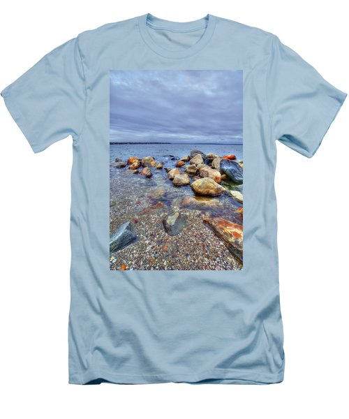 Men's T-Shirt (Slim Fit) featuring the photograph Greenwich Bay by Alex Grichenko