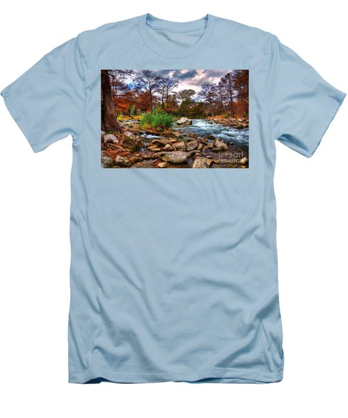 Guadalupe In The Fall Men's T-Shirt (Slim Fit) by Savannah Gibbs
