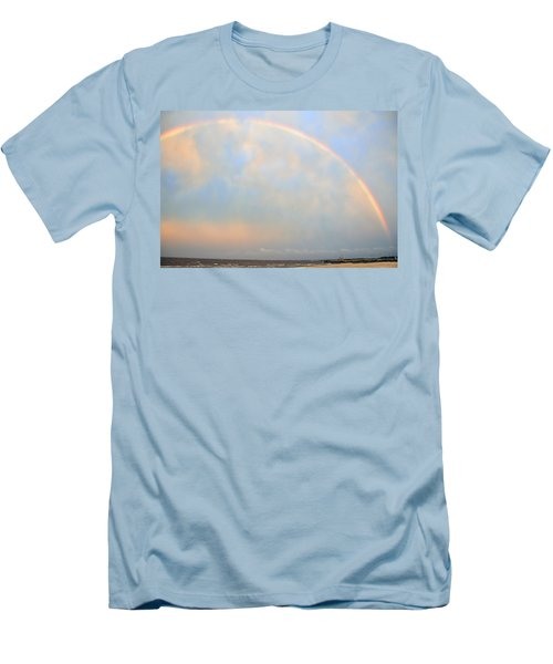 Men's T-Shirt (Slim Fit) featuring the photograph Gulf Coast Rainbow by Charlotte Schafer