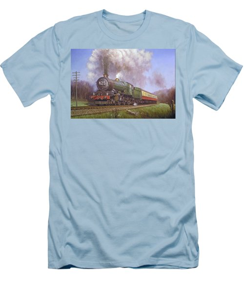 Gwr King Class On Dainton Bank. Men's T-Shirt (Athletic Fit)
