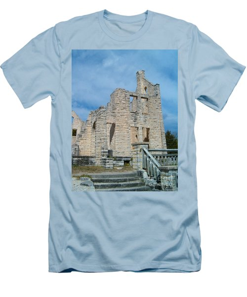 Men's T-Shirt (Slim Fit) featuring the photograph Haha Tonka Castle 2 by Sara  Raber