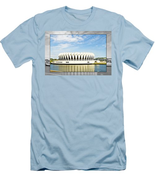 Hampton Coliseum Men's T-Shirt (Slim Fit) by Walter Herrit