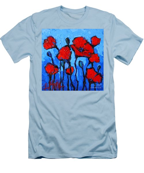 Happy Coquelicots Men's T-Shirt (Slim Fit)