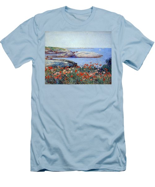 Hassam's Poppies On The Isles Of Shoals Men's T-Shirt (Slim Fit)