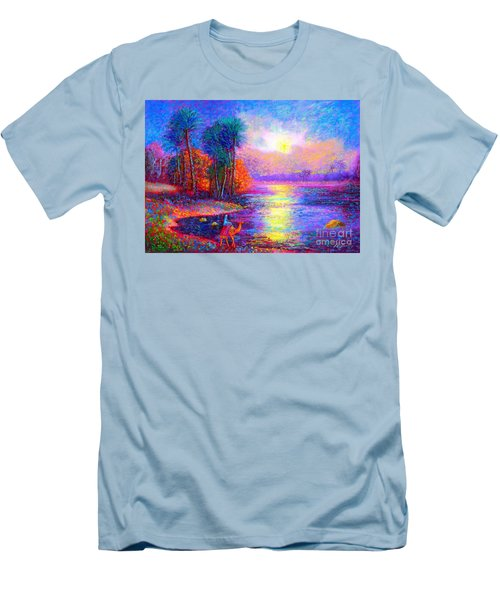 Men's T-Shirt (Slim Fit) featuring the painting Haunting Star by Jane Small