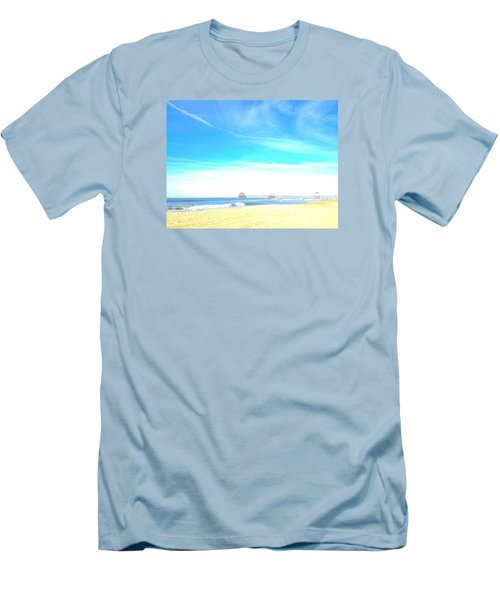 Men's T-Shirt (Slim Fit) featuring the photograph Hb Pier 7 by Margie Amberge