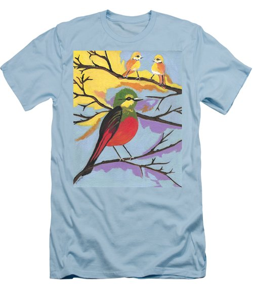 Men's T-Shirt (Slim Fit) featuring the painting He Aint That Tweet by Kathleen Sartoris
