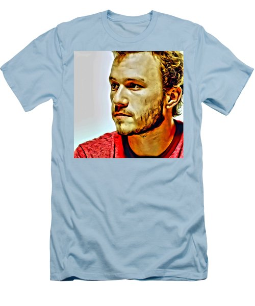 Heath Ledger Portrait Men's T-Shirt (Athletic Fit)