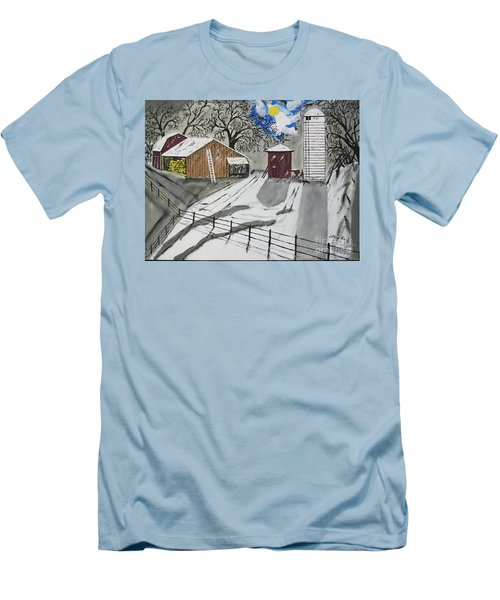 Men's T-Shirt (Slim Fit) featuring the painting Here Comes The Sun by Jeffrey Koss