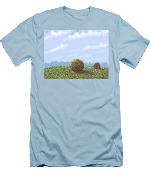 Hey I See Hay Men's T-Shirt (Slim Fit) by Stacy C Bottoms