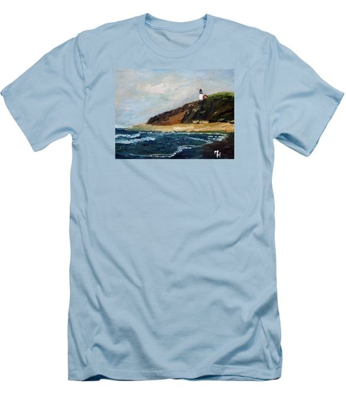 Highland Light Men's T-Shirt (Slim Fit) by Michael Helfen