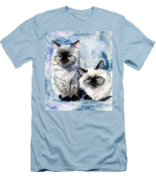 Men's T-Shirt (Slim Fit) featuring the painting Himalayan Duo by Sherry Shipley
