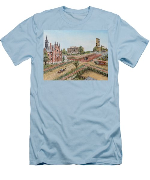 Historic Street - Lawrence Ks Men's T-Shirt (Athletic Fit)