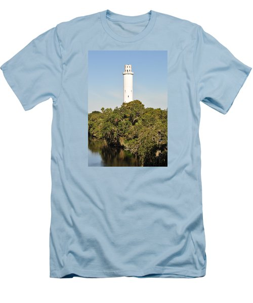 Historic Water Tower - Sulphur Springs Florida Men's T-Shirt (Slim Fit) by John Black