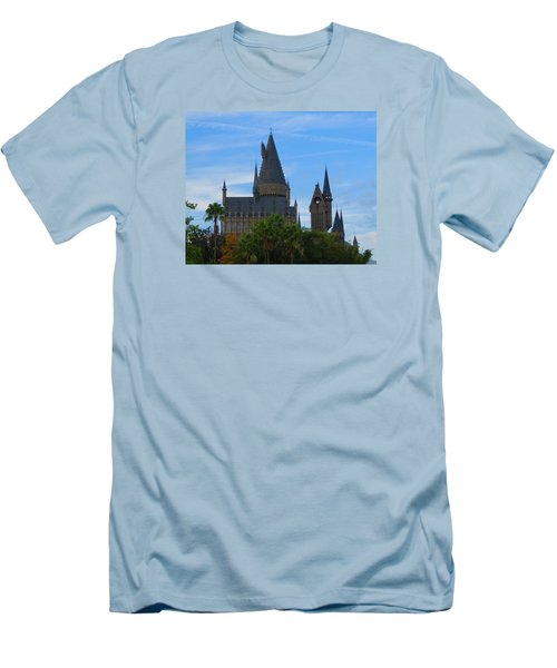 Hogwarts Castle With Towers Men's T-Shirt (Slim Fit) by Kathy Long