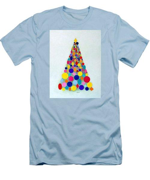 Holiday Tree #1 Men's T-Shirt (Slim Fit) by Thomas Gronowski