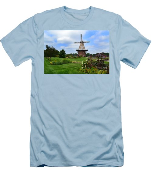 Holland Michigan Windmill Landscape Men's T-Shirt (Athletic Fit)