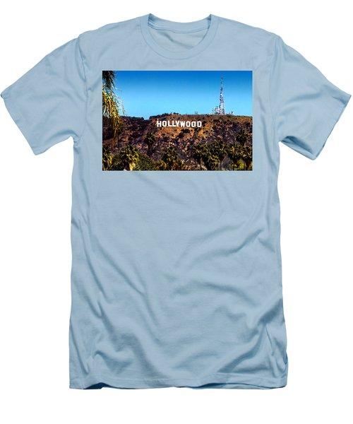 Hollywood Sign Men's T-Shirt (Slim Fit) by Az Jackson