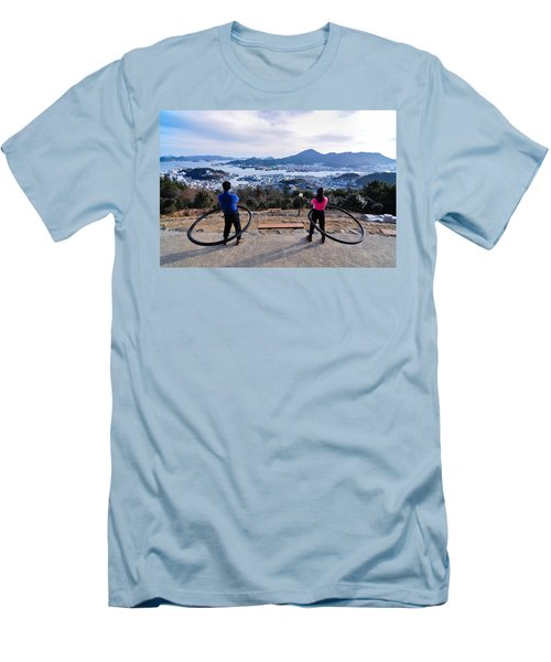 Hoops On The Mountaintop Men's T-Shirt (Athletic Fit)
