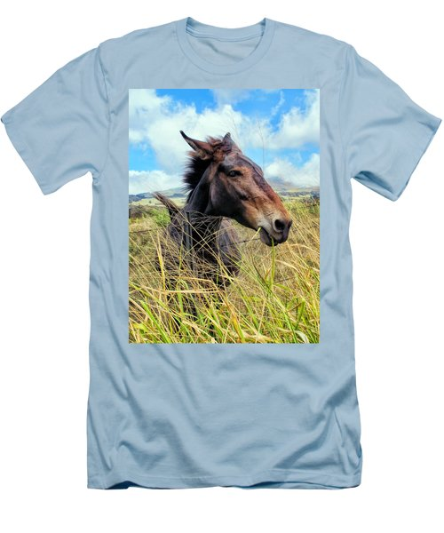 Men's T-Shirt (Slim Fit) featuring the photograph Horse 6 by Dawn Eshelman