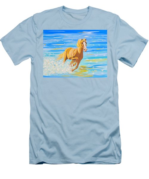 Men's T-Shirt (Slim Fit) featuring the painting Horse Bright by Phyllis Kaltenbach