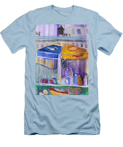Hot Dogs  Men's T-Shirt (Slim Fit) by Leela Payne