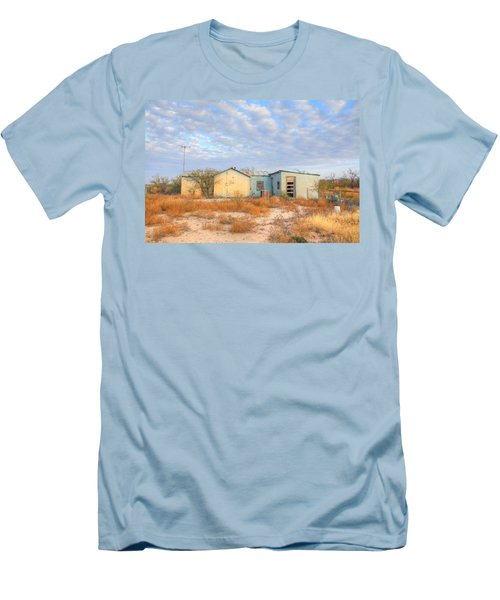 Men's T-Shirt (Slim Fit) featuring the photograph House In Ft. Stockton Iv by Lanita Williams