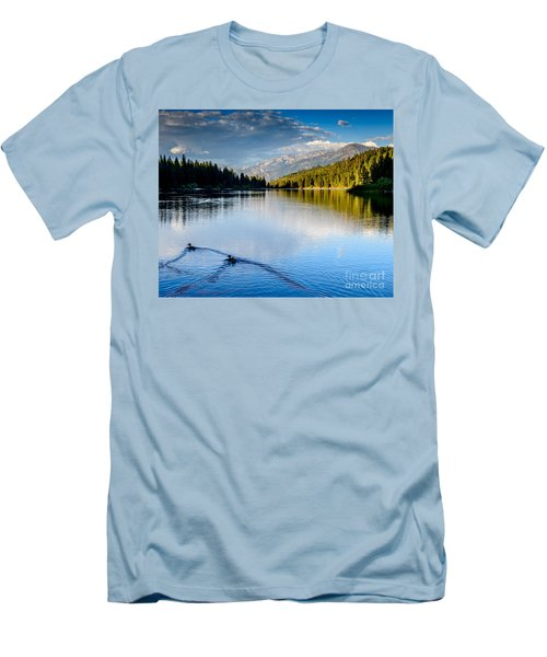 Hume Lake Evening Men's T-Shirt (Athletic Fit)