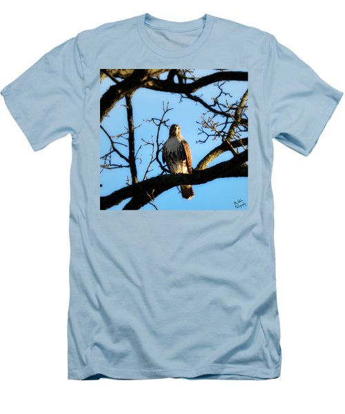 Men's T-Shirt (Slim Fit) featuring the photograph Hungry by Ally  White