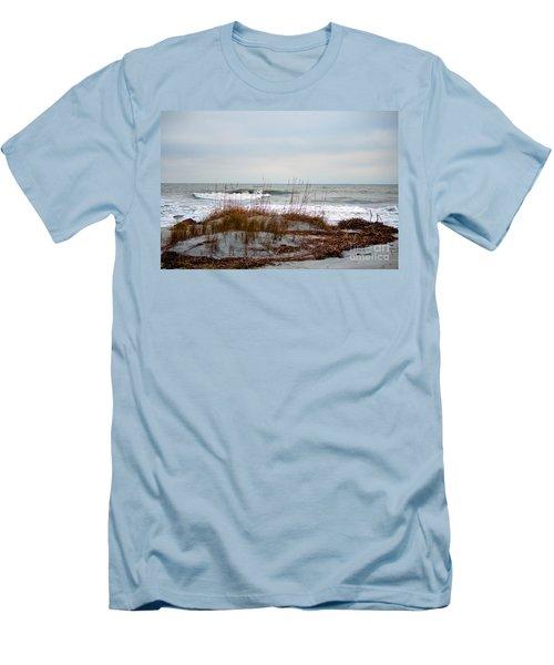 Hunting Island Beach Men's T-Shirt (Athletic Fit)