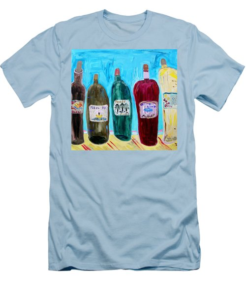 I Choose Wine By The Label Men's T-Shirt (Athletic Fit)
