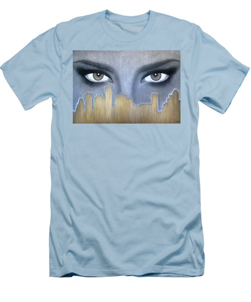 I Love Houston Men's T-Shirt (Athletic Fit)