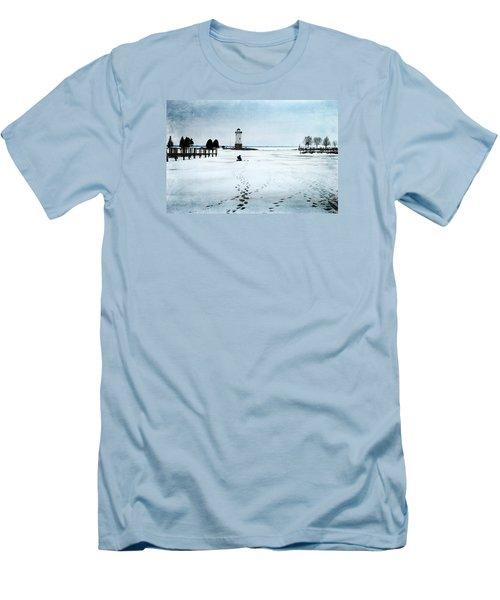 Ice Fishing Solitude 2 Men's T-Shirt (Slim Fit)
