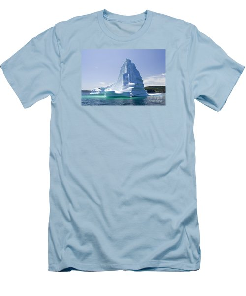 Men's T-Shirt (Slim Fit) featuring the photograph Iceberg Canada by Liz Leyden
